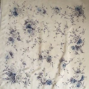 Vintage floral silk scarf Paris Design Sally Gee